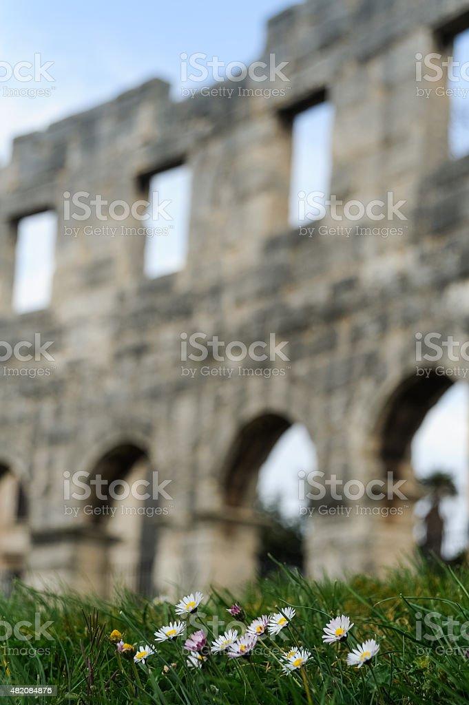 amphitheater Pula stock photo