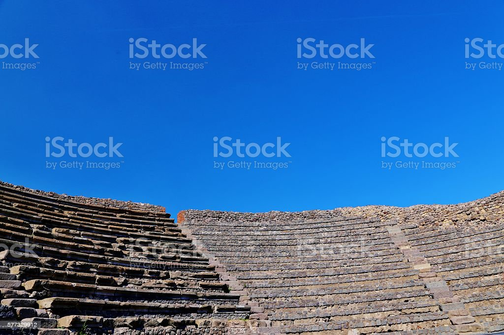 Amphitheater Ruins in Pompeii stock photo