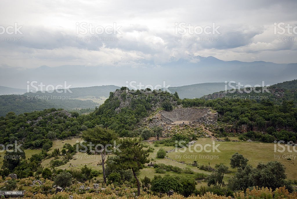 Amphitheater Ruins royalty-free stock photo