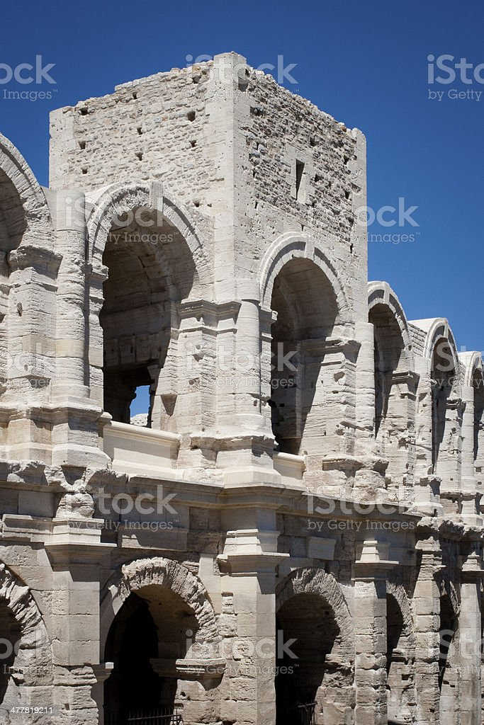 Amphitheatre in Arles, France. royalty-free stock photo