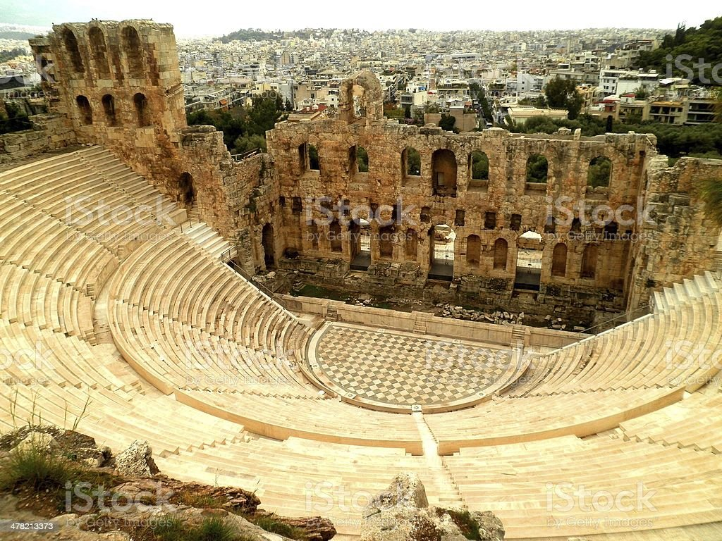 Amphitheatre in Athens stock photo