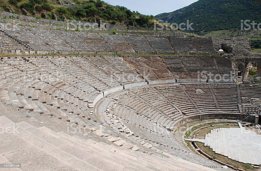 Amphitheater in die Ruinen von ephesus Lizenzfreies stock-foto