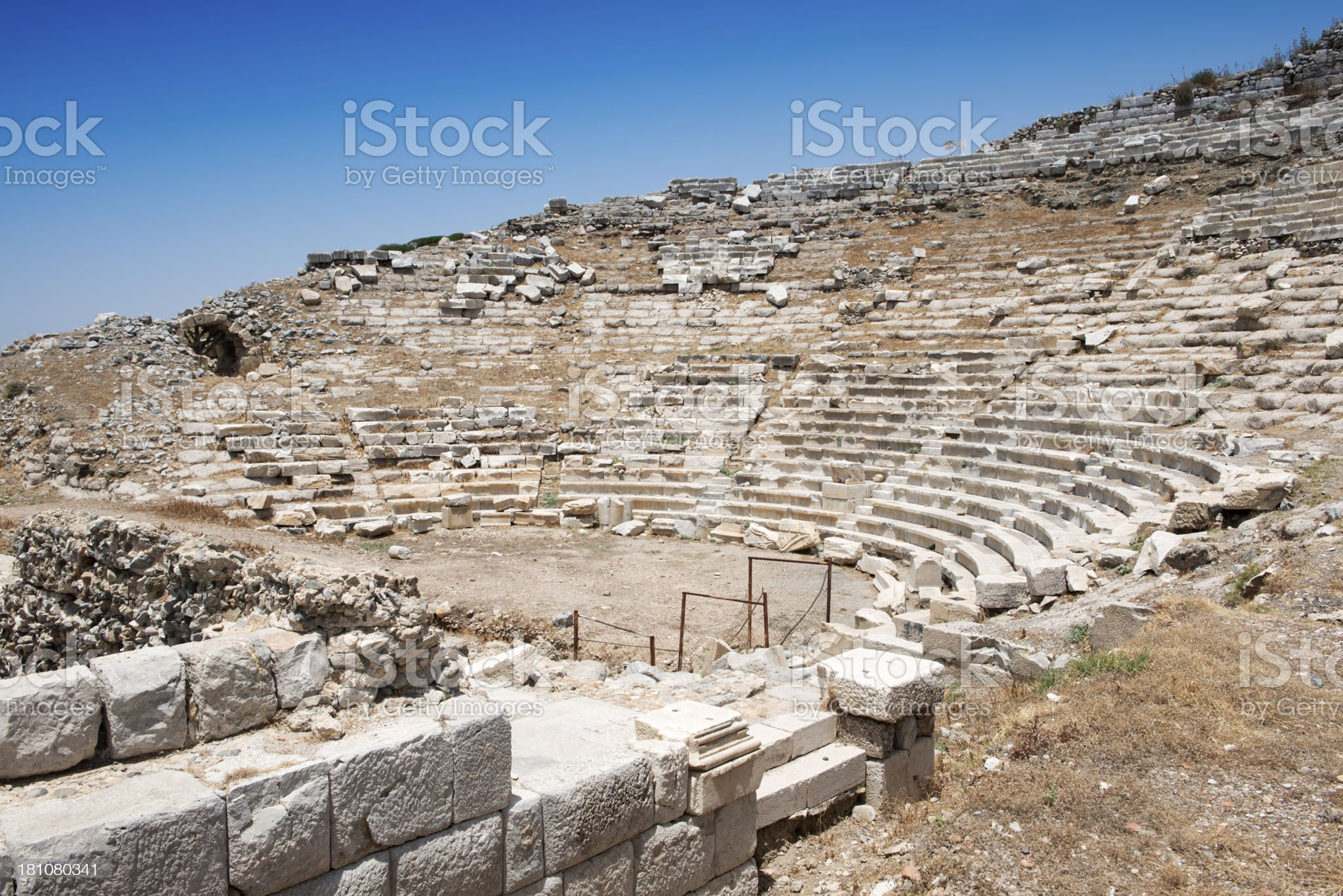 Amphitheater in Knidos royalty-free stock photo