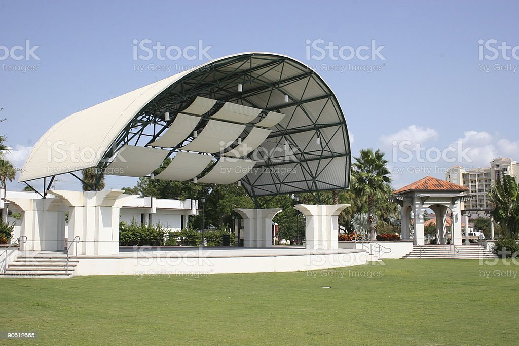 Amphitheatre in Park stock photo