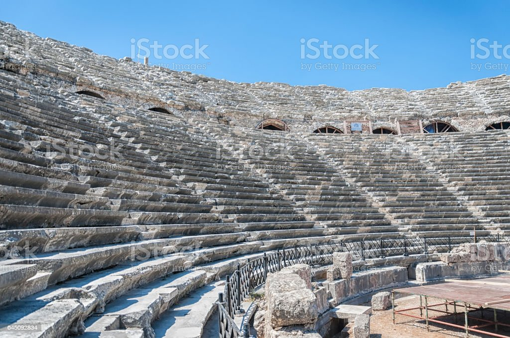 Amphitheatre in Side stock photo