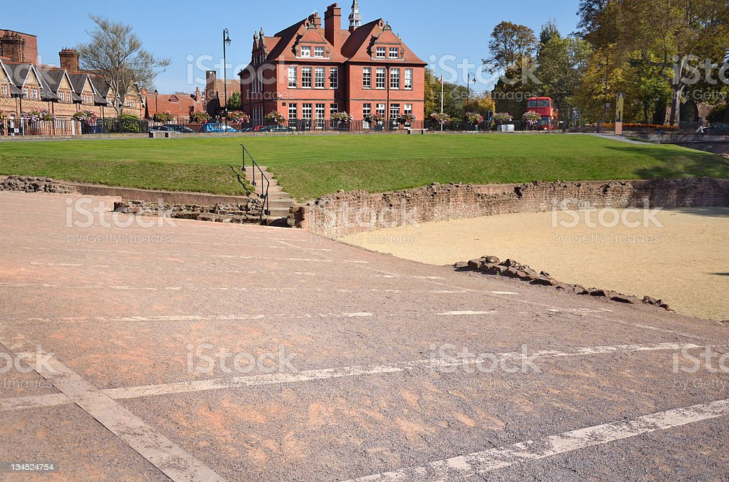Amphitheatre Layout in English City of Chester royalty-free stock photo