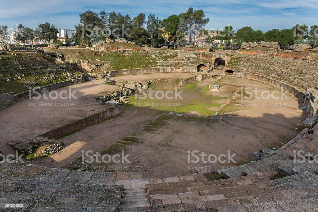 Amphitheatre of Emerita Augusta stock photo