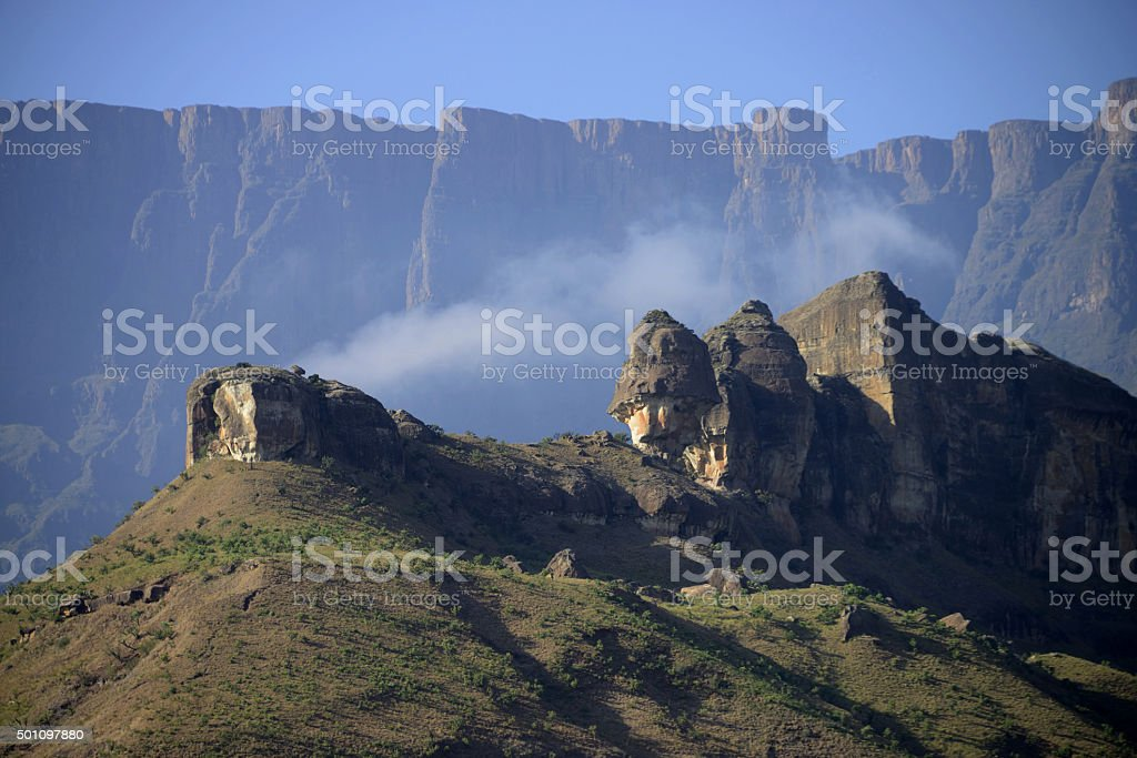Amphitheatre, Royal Natal National Park, South Africa stock photo