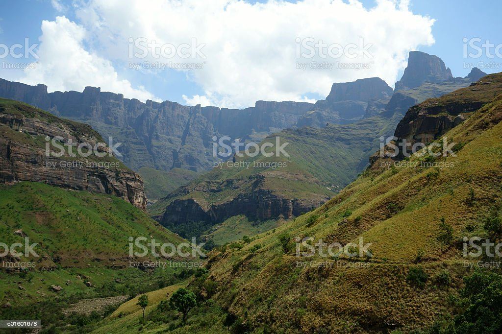 Amphitheatre, Royal Natal National Park, South Africa stock photo