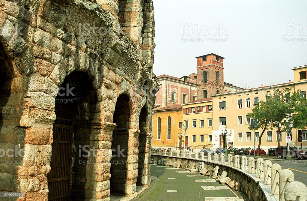 Amphitheatre, Verona, Italy stock photo