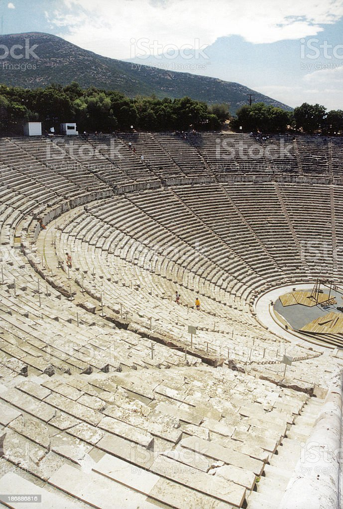 Amphitheatre - Vertically royalty-free stock photo