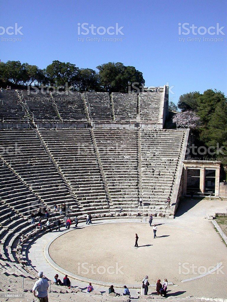 Amphitheatre View royalty-free stock photo