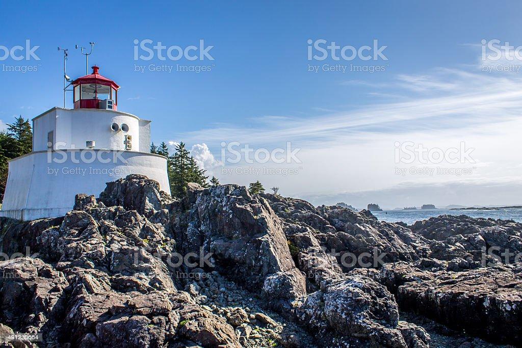 Amphitrite Point Lighthouse stock photo