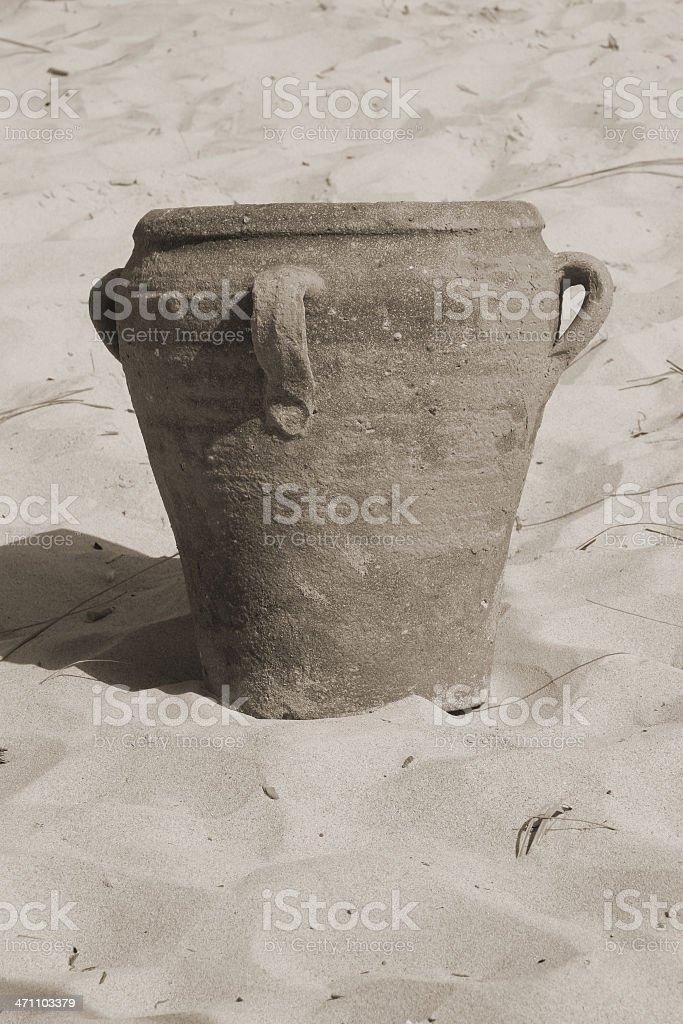Amphora in beach stock photo