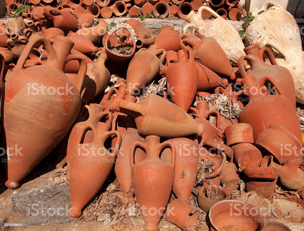 Amphora stock photo