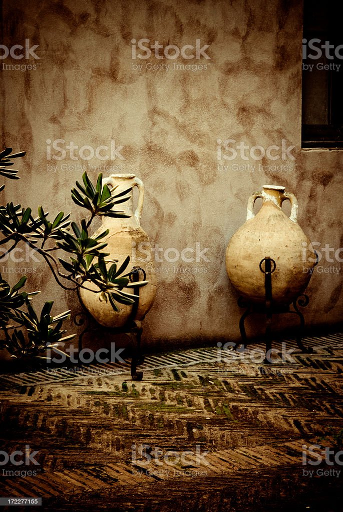 amphoras stock photo