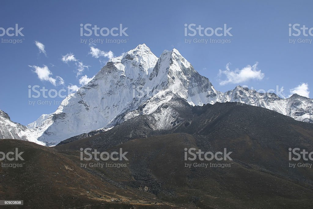 Amphu Gyabjen and Ama Dablam royalty-free stock photo