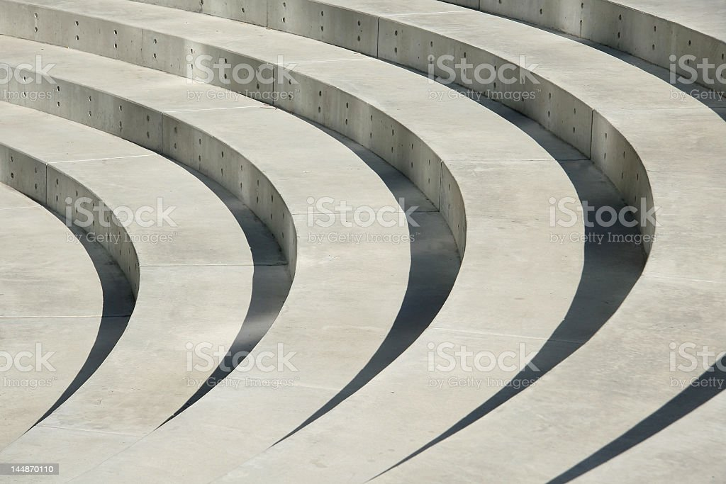 Ampitheater Steps 2 royalty-free stock photo
