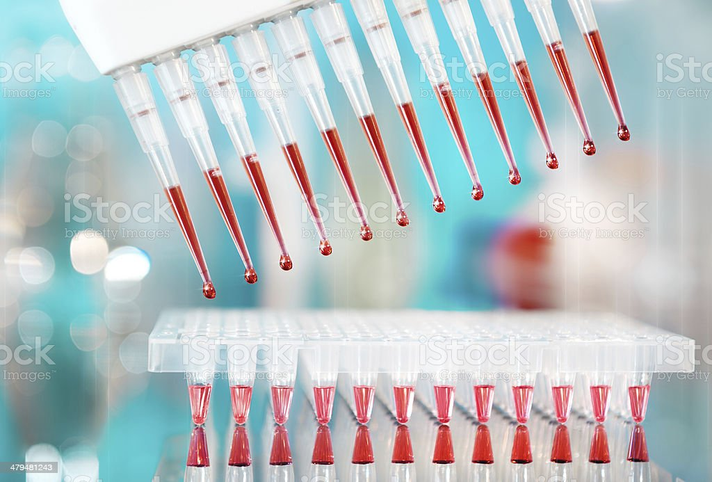 DNA amplification tools stock photo