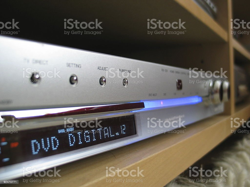 Amplifier and reciever stock photo
