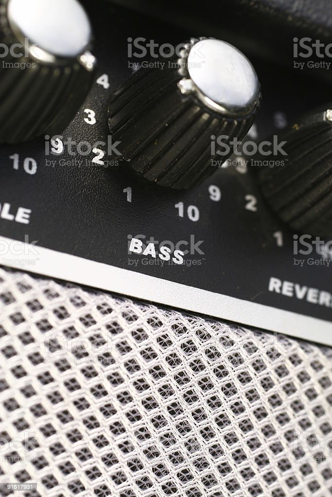 Amplifier Bass royalty-free stock photo