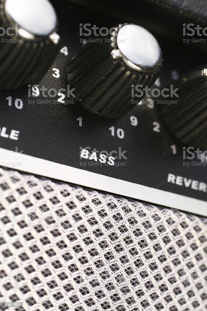 Amplifier Bass stock photo
