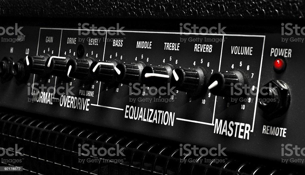 amplifier controls stock photo