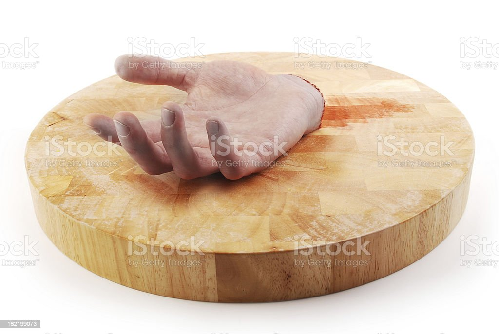 amputated hand stock photo