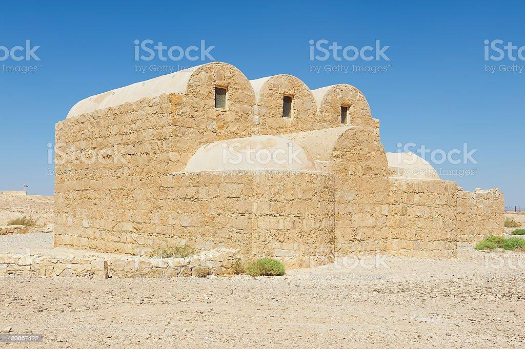 Amra castle (Qasr Amra) near Amman, Jordan. stock photo
