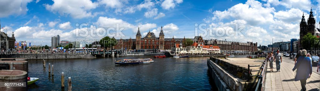 Amserdam central station stock photo