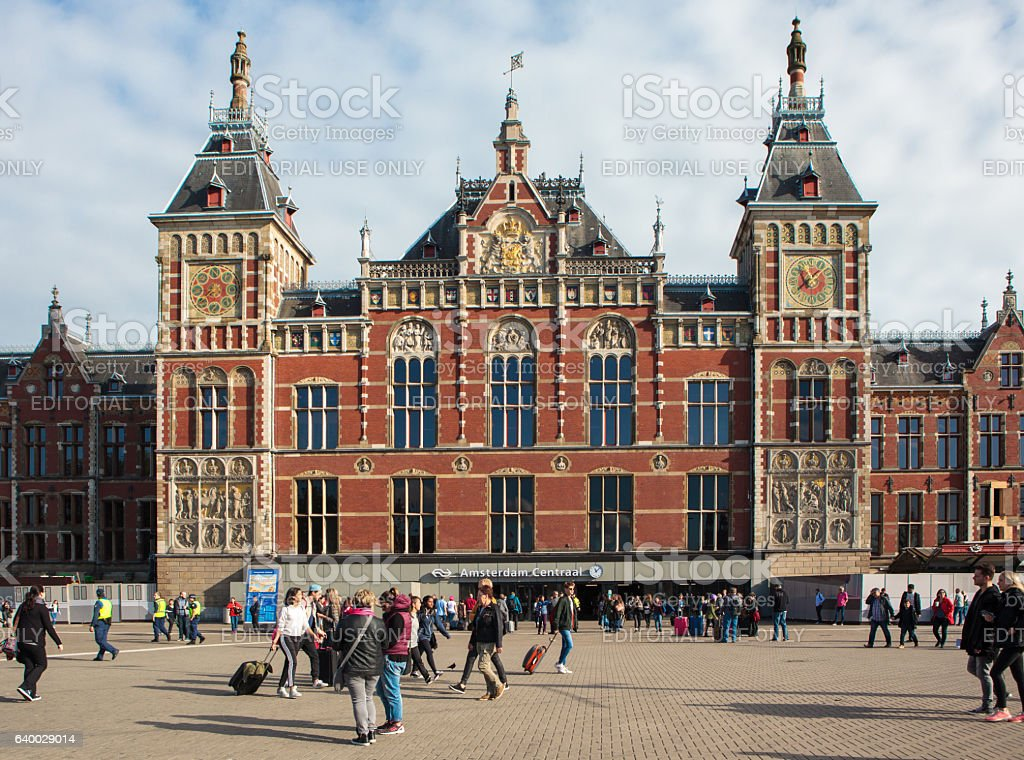 Amsteram Central Station stock photo