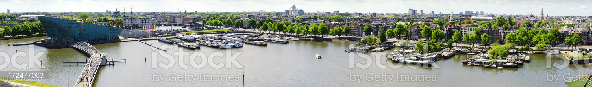Amsterdam aerial view panorama royalty-free stock photo