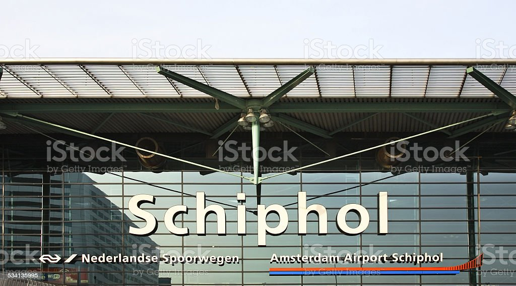 Amsterdam Airport Schiphol. Netherlands stock photo