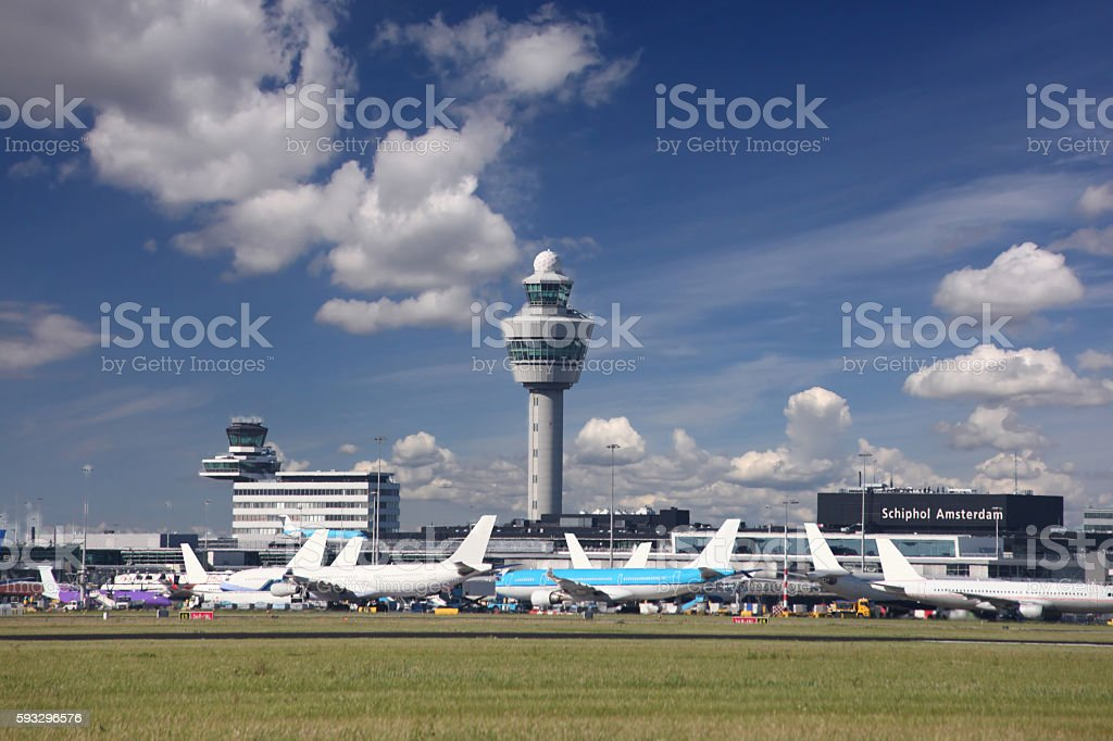Amsterdam airport Schiphol, Netherlands stock photo