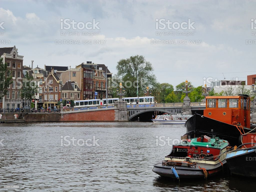 Amsterdam Amstel royalty-free stock photo