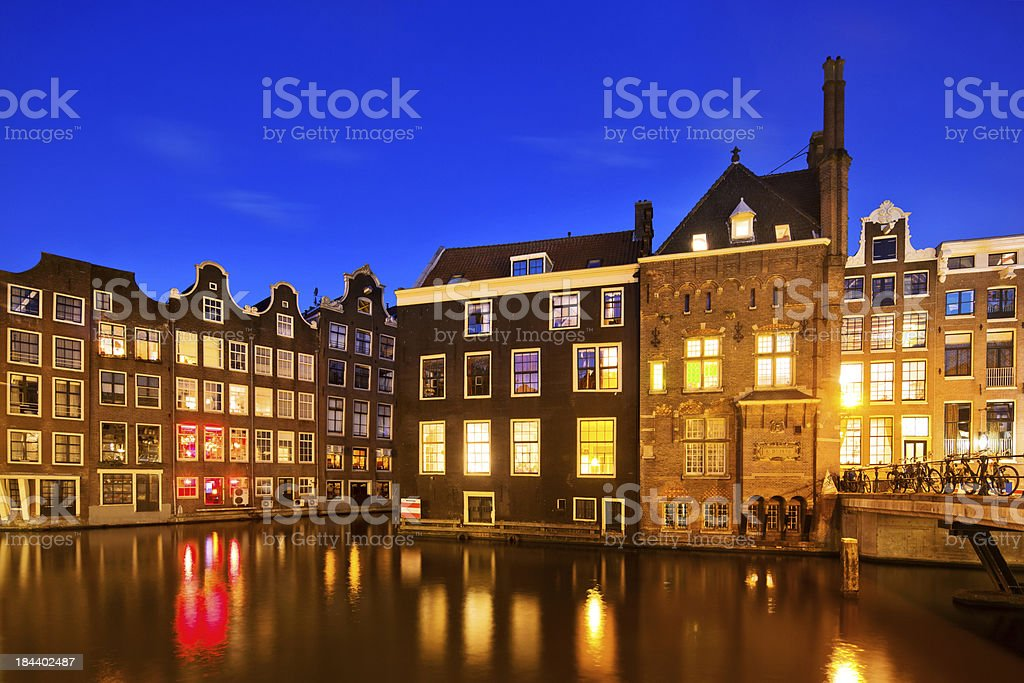 Amsterdam at Night royalty-free stock photo
