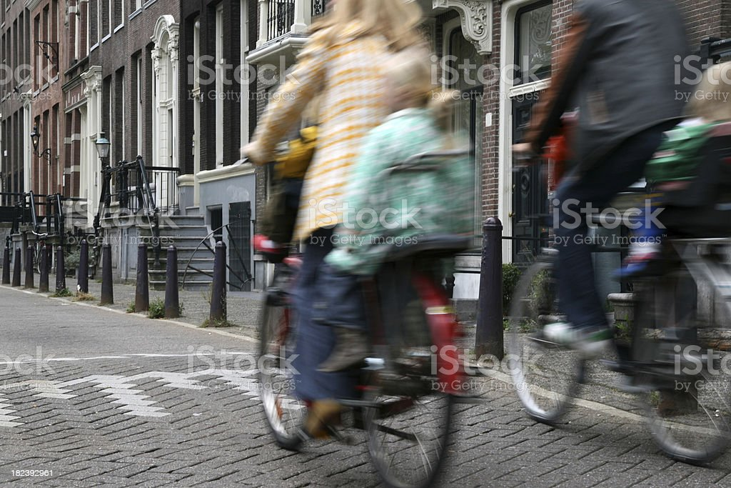 Amsterdam Bicyclists royalty-free stock photo
