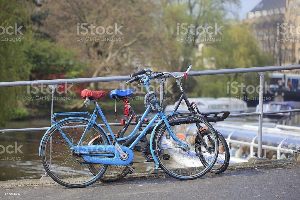 Amsterdam bikes royalty-free stock photo