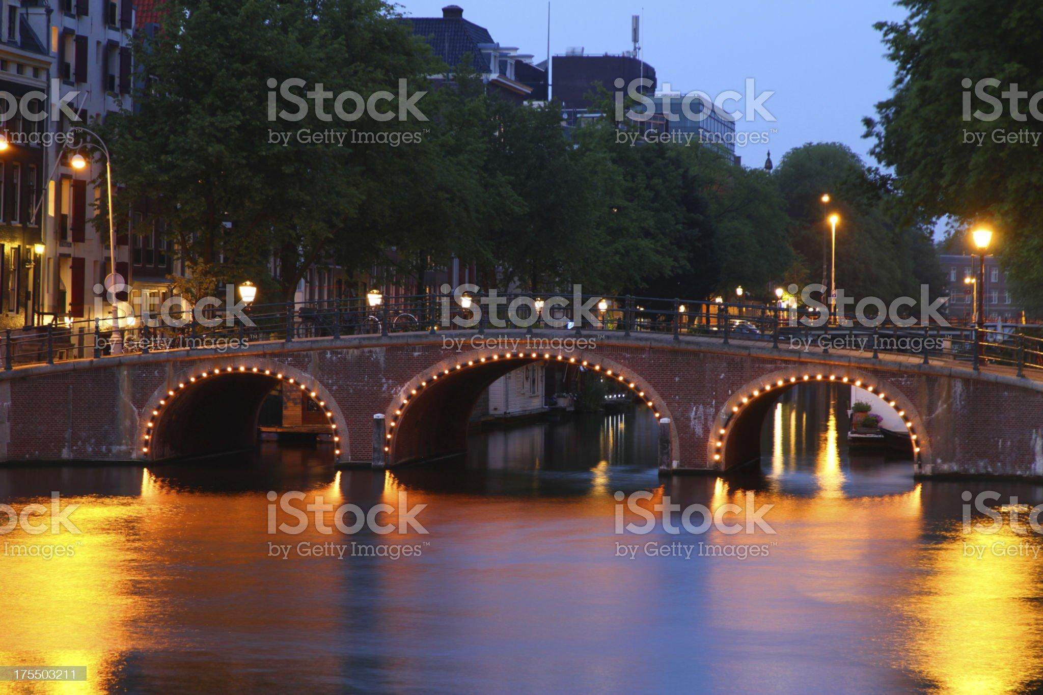 Amsterdam Bridges royalty-free stock photo