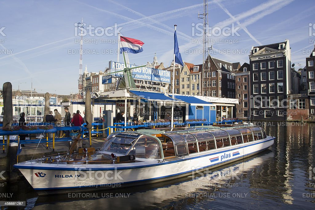 Amsterdam Canal Boat royalty-free stock photo