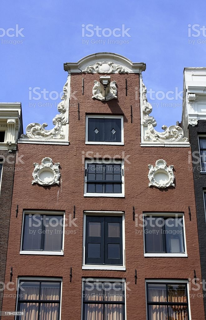 Amsterdam canal house royalty-free stock photo