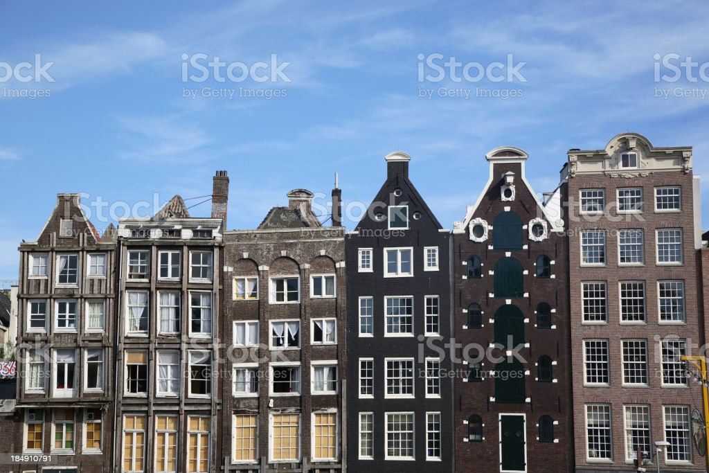 Amsterdam: Canal Houses royalty-free stock photo
