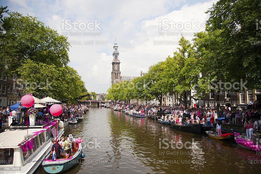 Amsterdam Canal Parade 2012 royalty-free stock photo