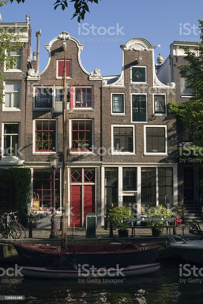 Amsterdam Canal royalty-free stock photo