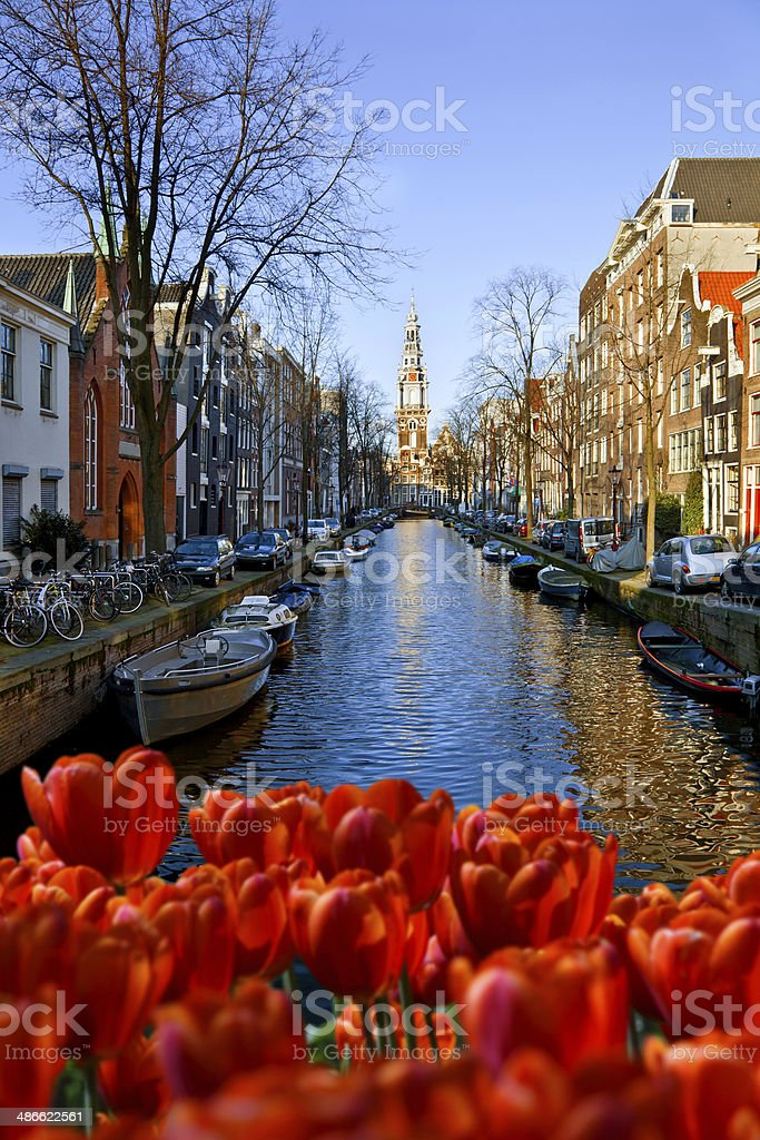 Amsterdam Canal. stock photo