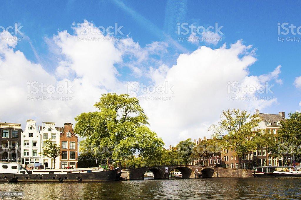 Amsterdam canal stock photo