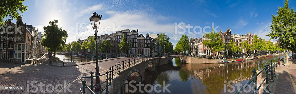 Amsterdam canals, Holland stock photo
