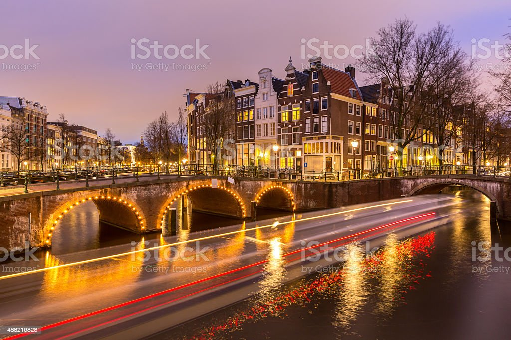 Amsterdam Canals Netherlands stock photo