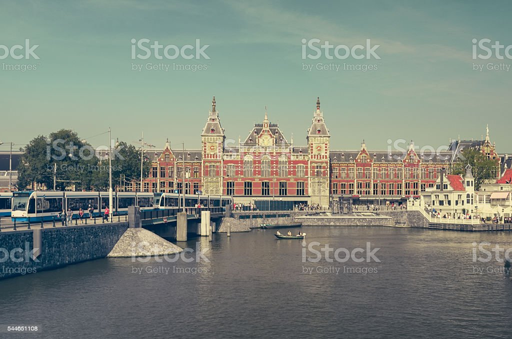 Amsterdam Centraal. Main building, Netherlands stock photo