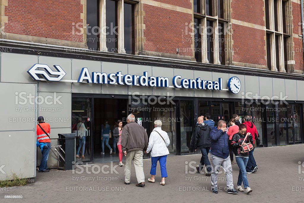 Amsterdam Centraal stock photo